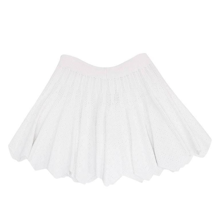 Alaia White Mini Skater Skirt 1
