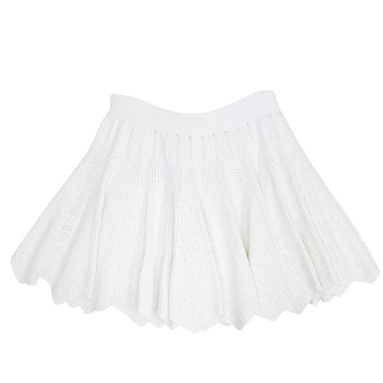 Alaia White Mini Skater Skirt 4