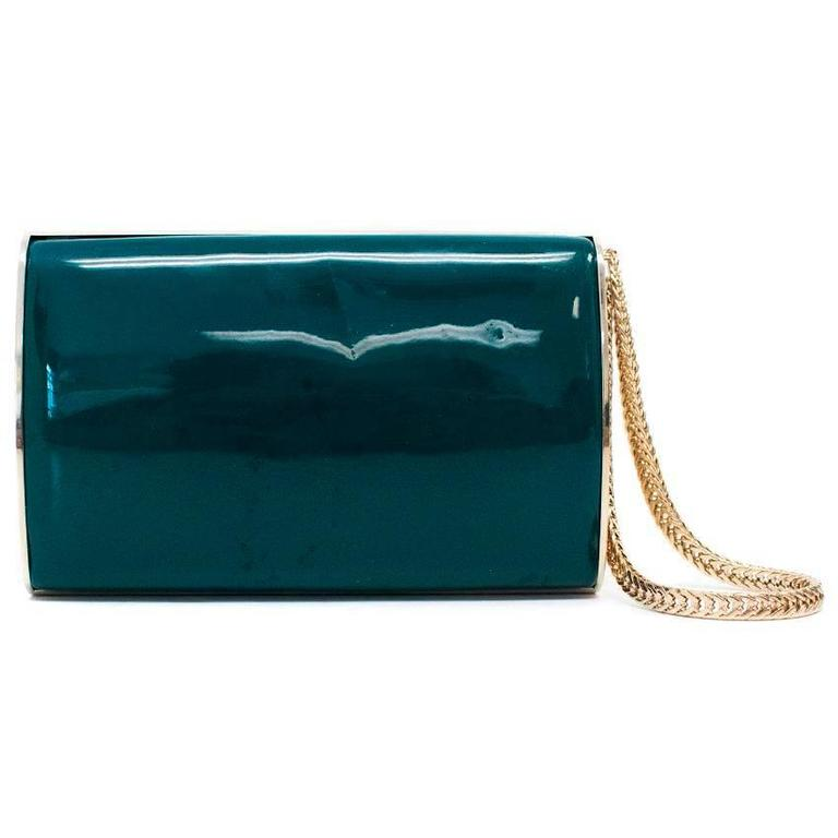 Jimmy Choo Turquoise Carmen Clutch For Sale at 1stdibs