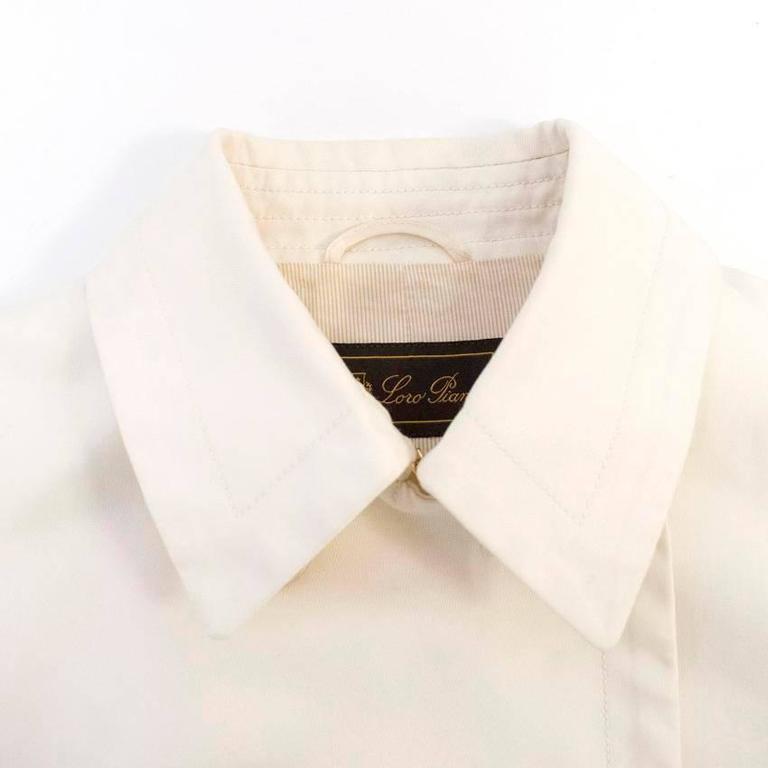 Loro Piana Men Cream Double Breasted Coat  IT 48 For Sale 1
