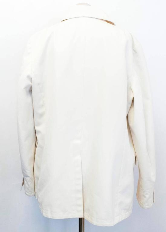 Loro Piana Men Cream Double Breasted Coat  IT 48 In Excellent Condition For Sale In London, GB