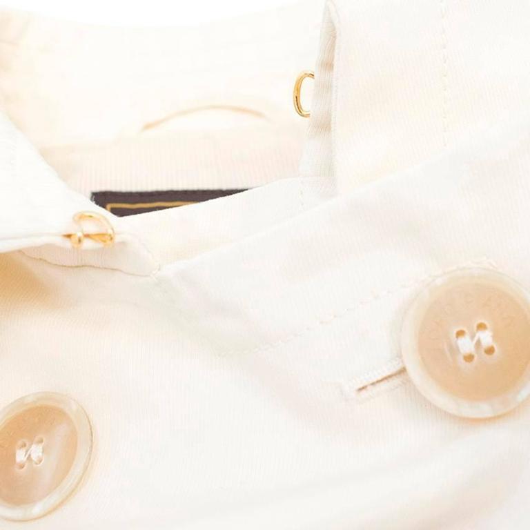 Loro Piana Men Cream Double Breasted Coat  IT 48 For Sale 5
