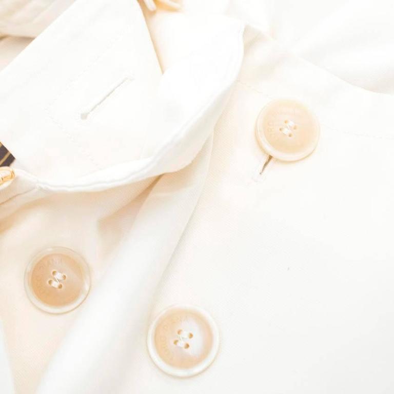 Loro Piana Men Cream Double Breasted Coat  IT 48 For Sale 2