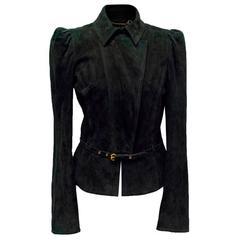 Gucci Black Suede Jacket