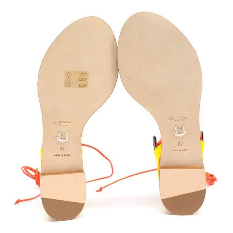 Paula Cademartori Multicolour Lotus Flat Sandals 6