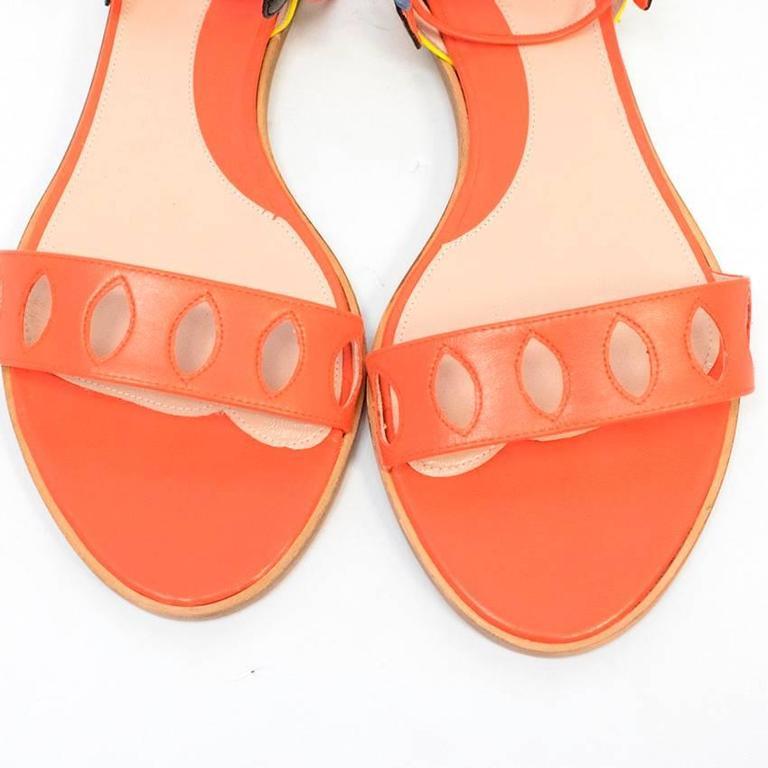 Paula Cademartori Multicolour Lotus Flat Sandals 5