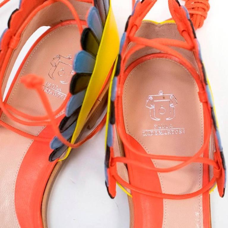Paula Cademartori Multicolour Lotus Flat Sandals 10