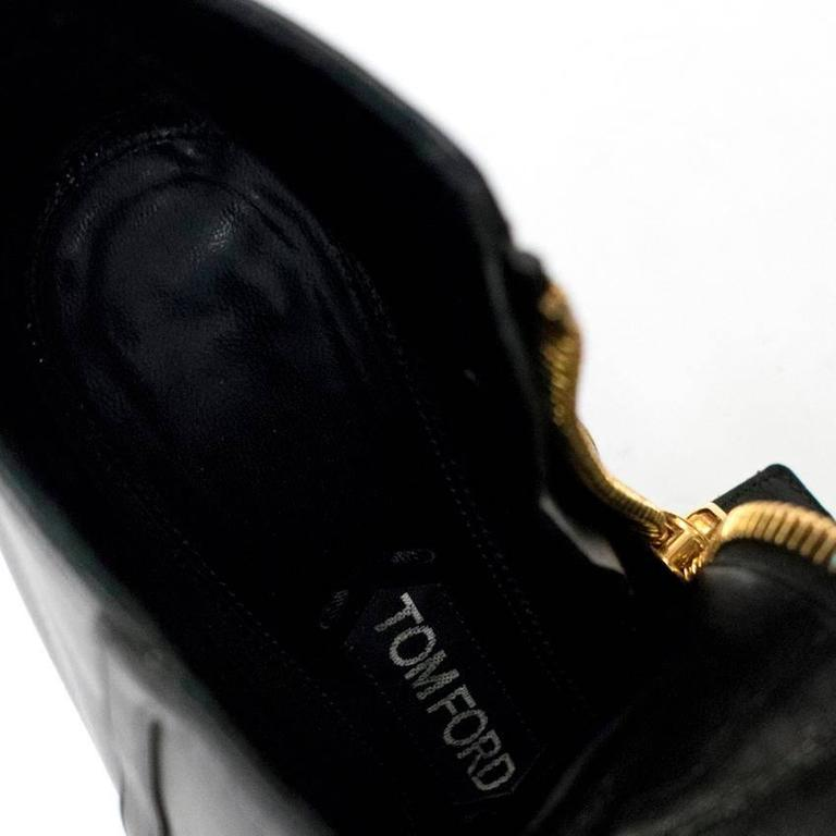 75c557d66c Tom Ford black ankle boots in a pointed toe stiletto heel style in soft  leather featuring