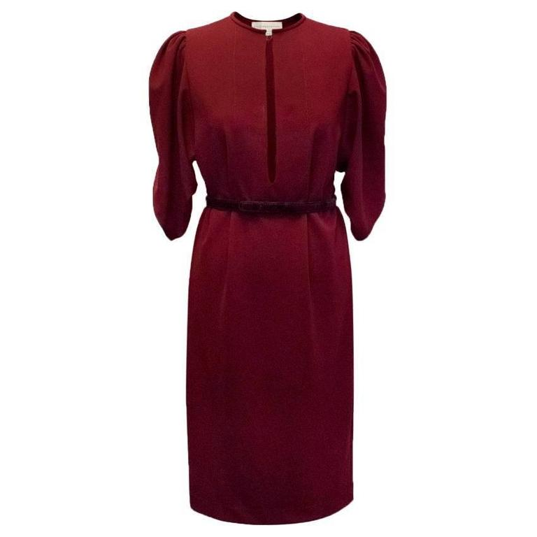 32bc788ad37 Stella McCartney Burgundy Dress For Sale at 1stdibs