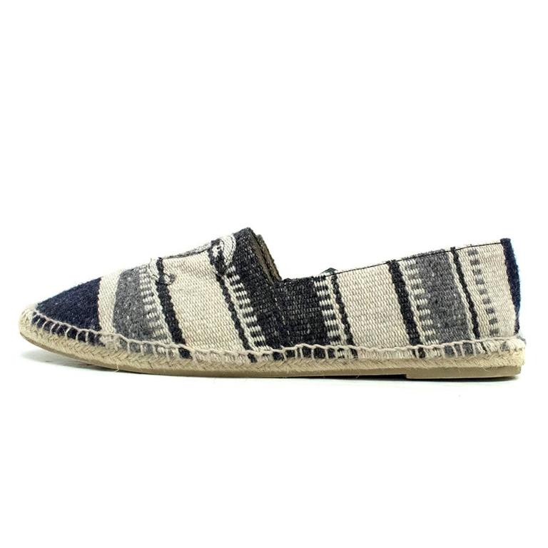 Brown Chanel Mens Canvas Espadrilles For Sale