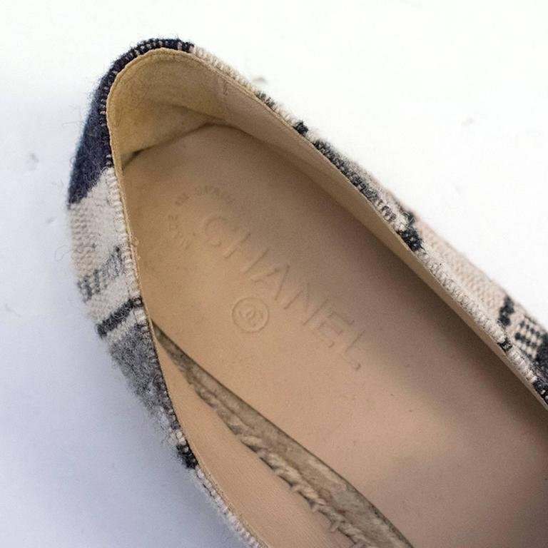 Chanel Mens Canvas Espadrilles In New Never_worn Condition For Sale In London, GB