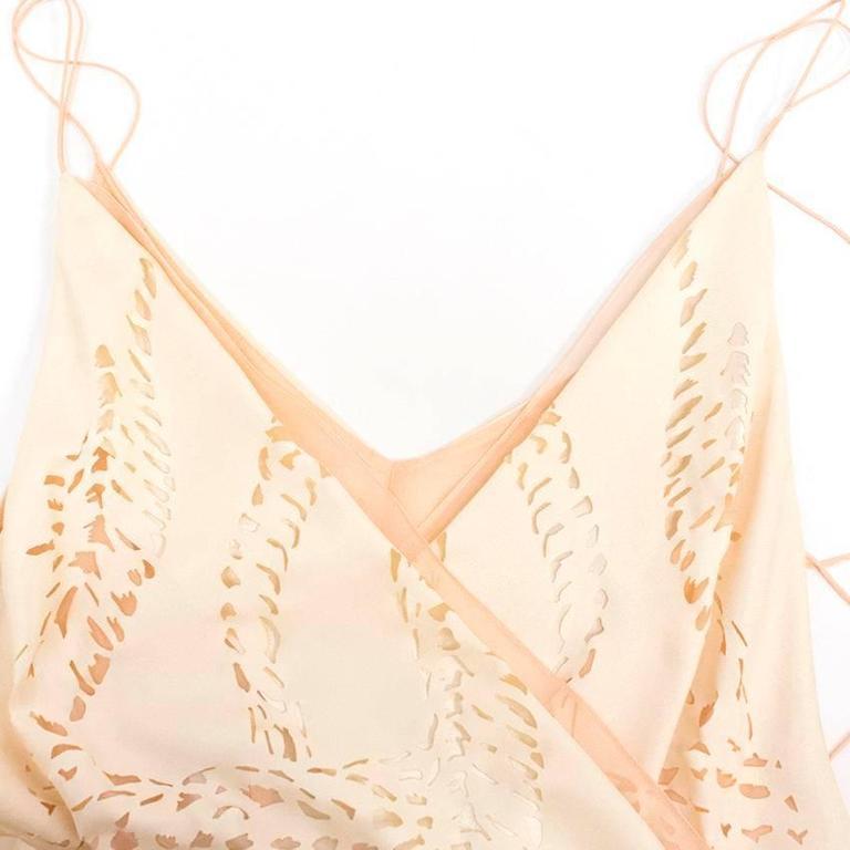 Emilio Pucci Lasercut Silk and Chiffon Dress In New never worn Condition For Sale In London, GB