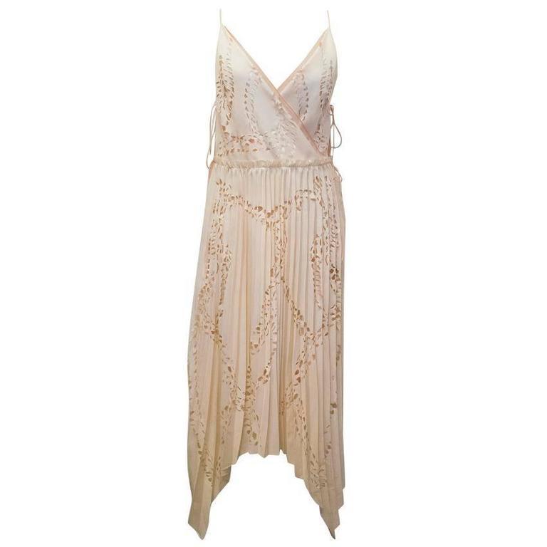 Emilio Pucci Lasercut Silk and Chiffon Dress For Sale