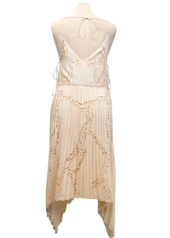 Emilio Pucci Lasercut Silk and Chiffon Dress For Sale 1