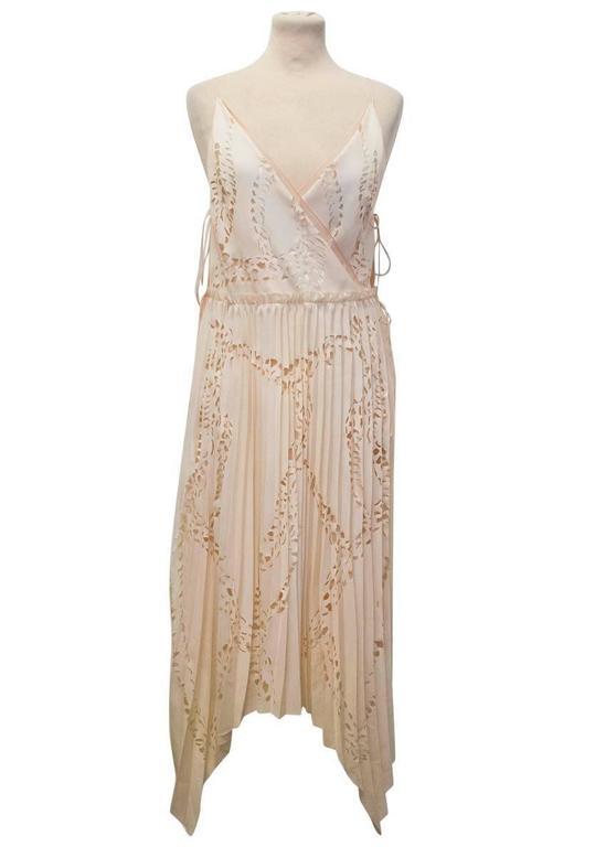 Women's Emilio Pucci Lasercut Silk and Chiffon Dress For Sale