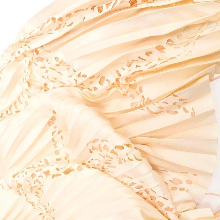Emilio Pucci Lasercut Silk and Chiffon Dress For Sale 2