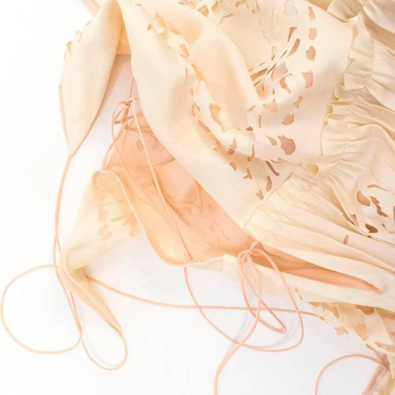Emilio Pucci Lasercut Silk and Chiffon Dress For Sale 3