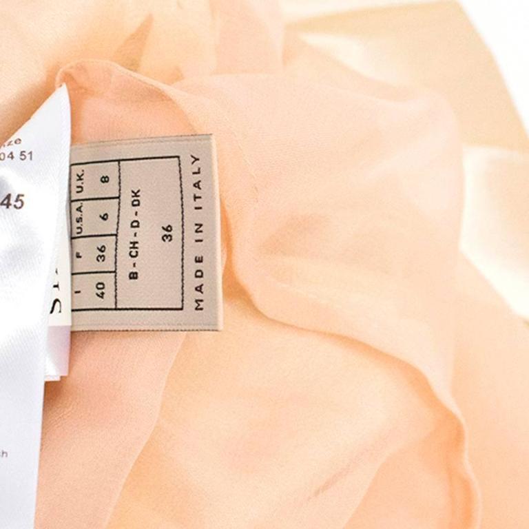 Emilio Pucci Lasercut Silk and Chiffon Dress For Sale 5