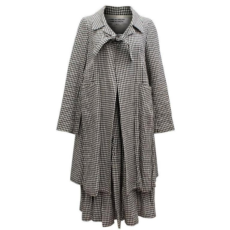 Comme des Garçons Check Skirt and Coat 1