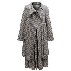 Comme des Garçons Check Skirt and Coat