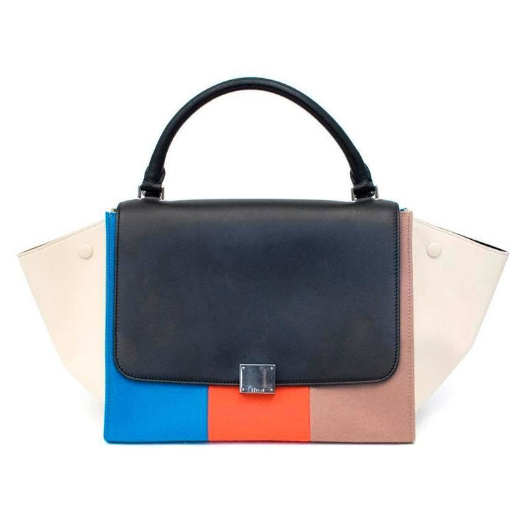 Celine Multicolor Felt Trapeze Bag 2