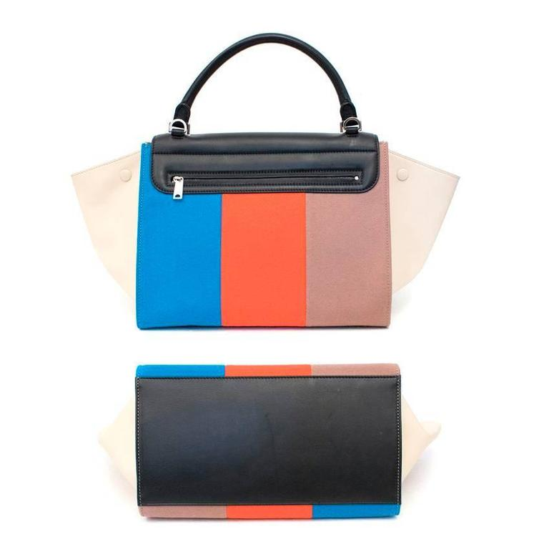 Celine Multicolor Felt Trapeze Bag 4