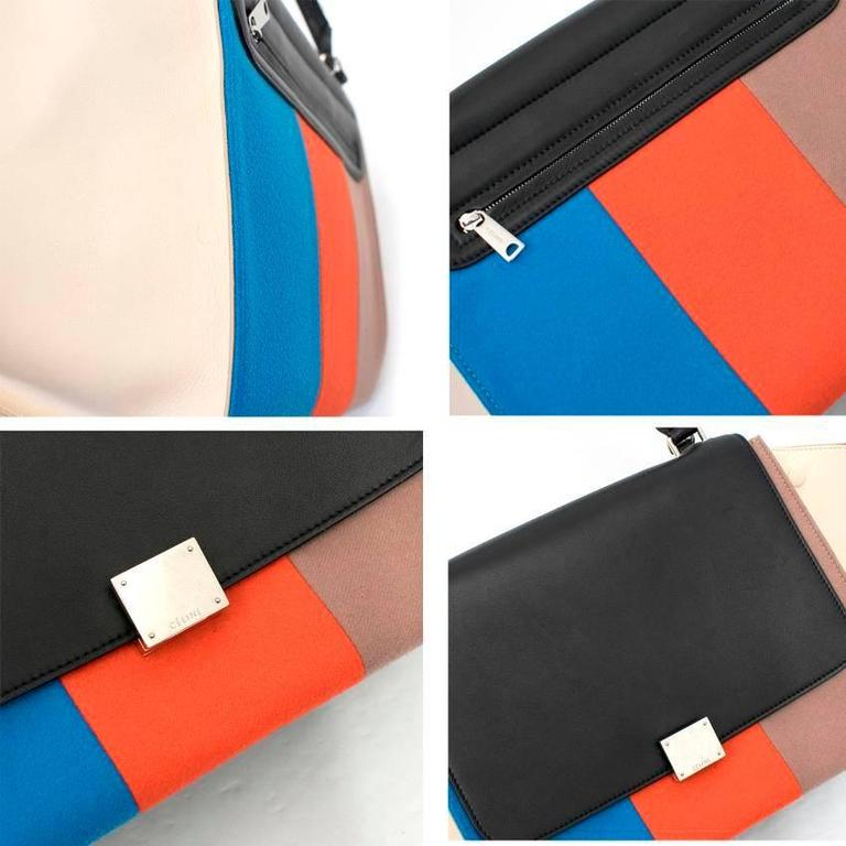 Celine Multicolor Felt Trapeze Bag 6