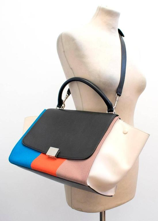 Celine Multicolor Felt Trapeze Bag 7