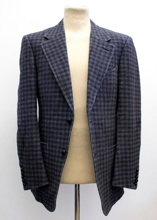Tom Ford Black And Purple Check Blazer 5