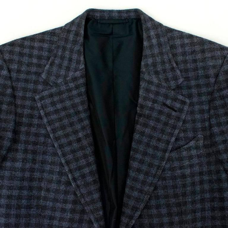 Tom Ford Black And Purple Check Blazer 6