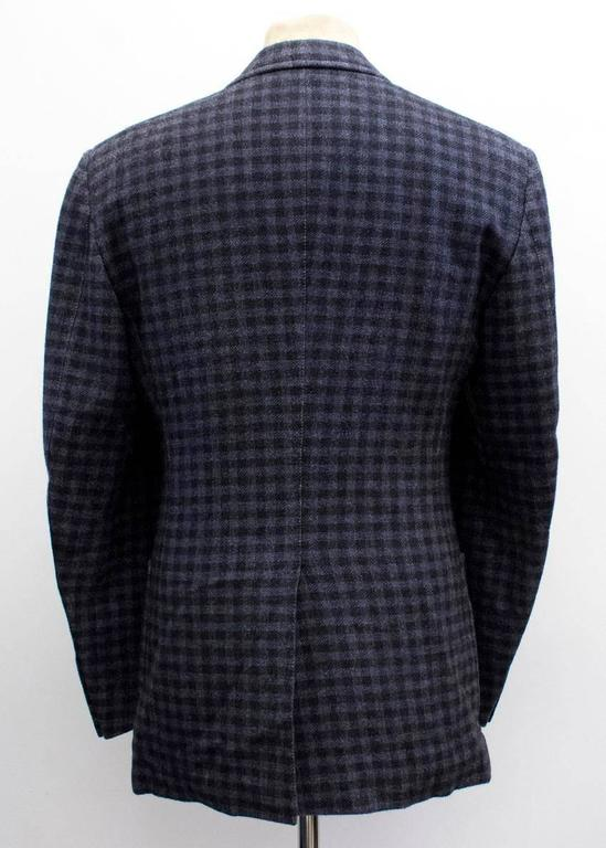 Tom Ford Black And Purple Check Blazer For Sale 4