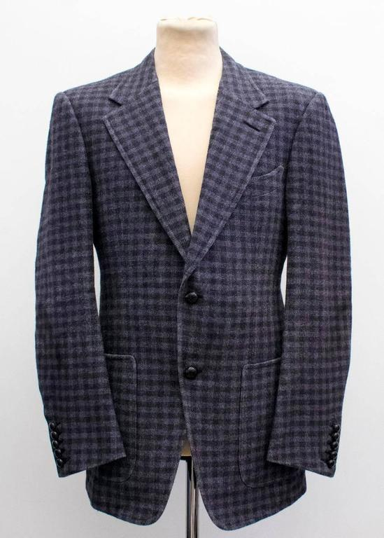 Tom Ford Black And Purple Check Blazer 9