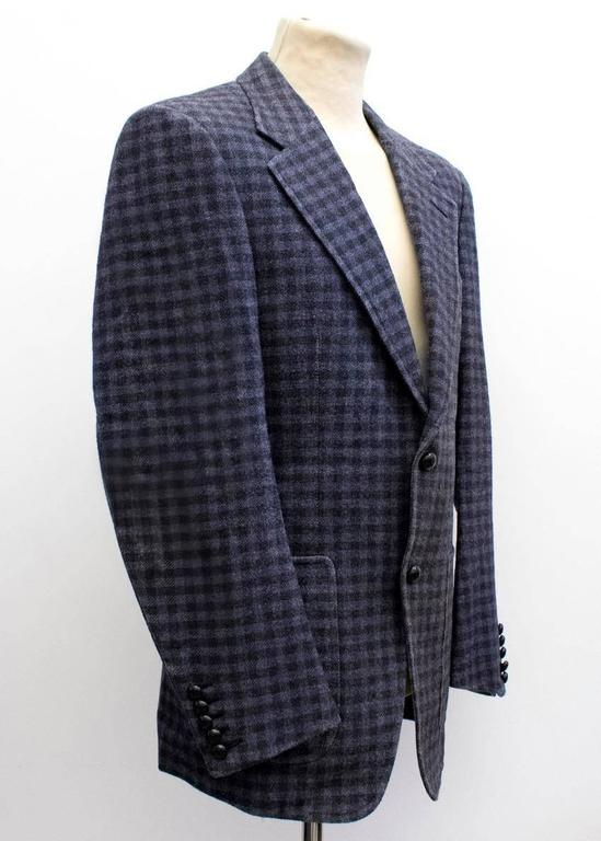 Tom Ford Black And Purple Check Blazer 10