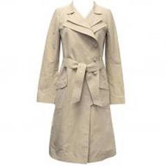 Chanel Beige Silk Trench Coat