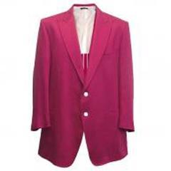 Tom Ford Men's Fuchsia Linen Jacket