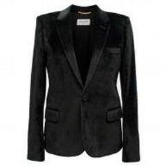 Saint Laurent Black Velvet Blazer - Size US 4