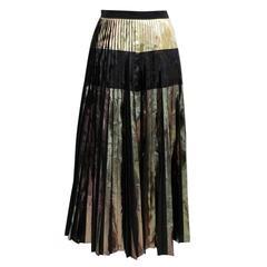 Proenza Schouler Multi Foil Printed Cloque Pleated Skirt