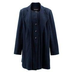 Chanel Navy Coat US 10
