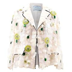 Prada White Sequin Jacket