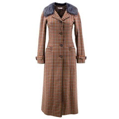 Prada Multicolored Check Coat
