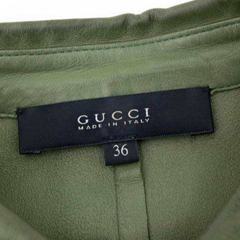 Gucci Green Leather Top For Sale 2