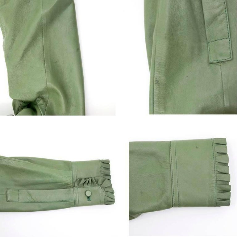 Gucci Green Leather Top For Sale 4