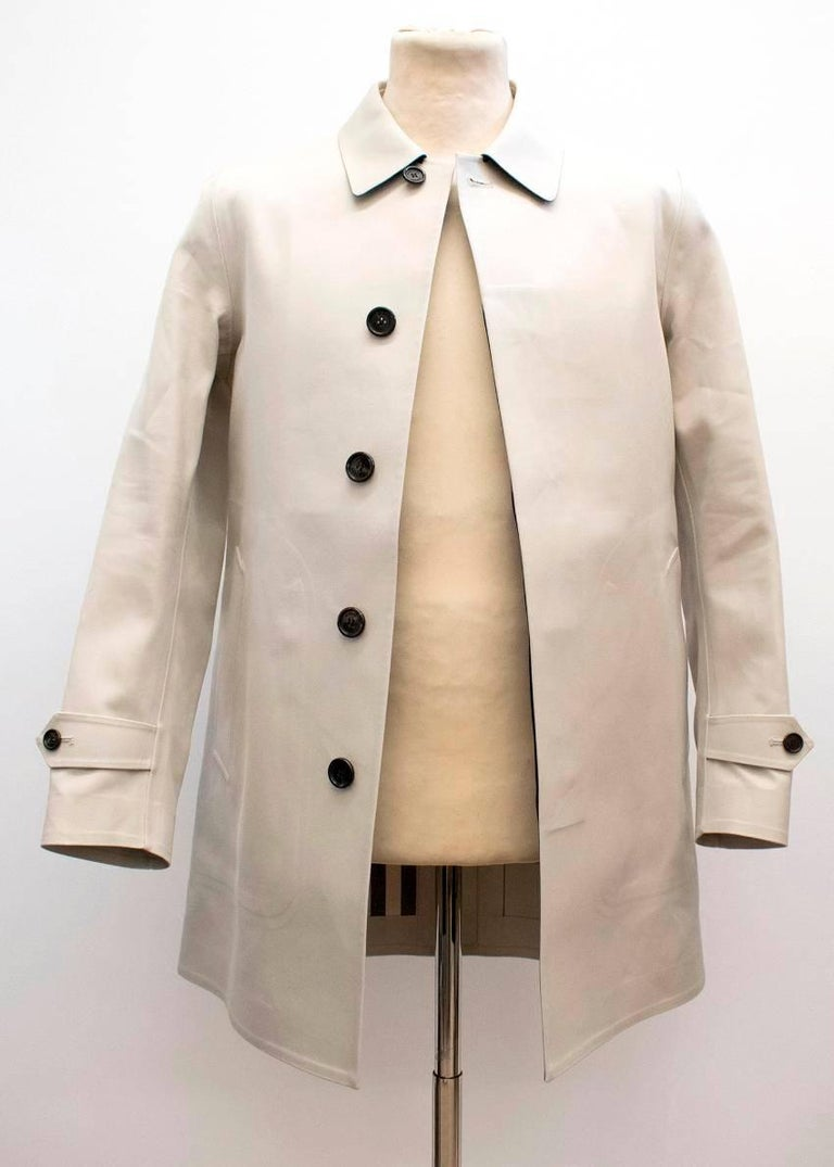 burberry stone trench coat for sale at 1stdibs. Black Bedroom Furniture Sets. Home Design Ideas