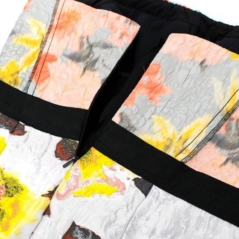 Women's Oscar de la Renta Floral Strapless Dress For Sale