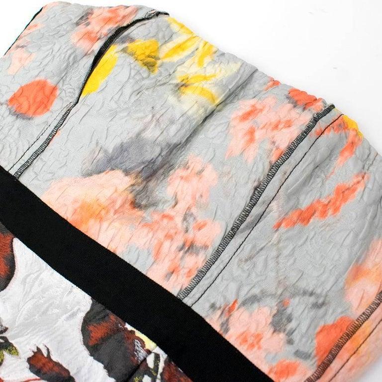Oscar de la Renta Floral Strapless Dress For Sale 3