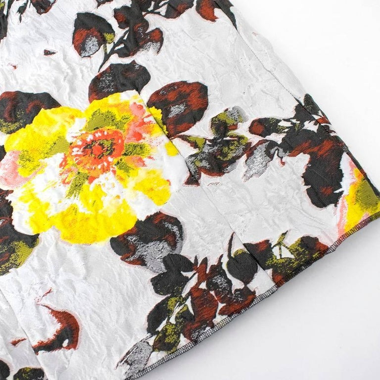 Oscar de la Renta Floral Strapless Dress For Sale 4
