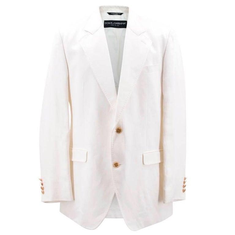 Dolce & Gabbana White Jacket For Sale