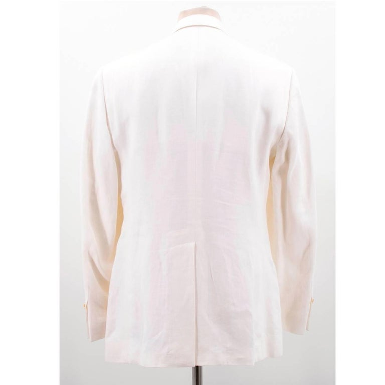 Dolce & Gabbana White Jacket In New never worn Condition For Sale In London, GB