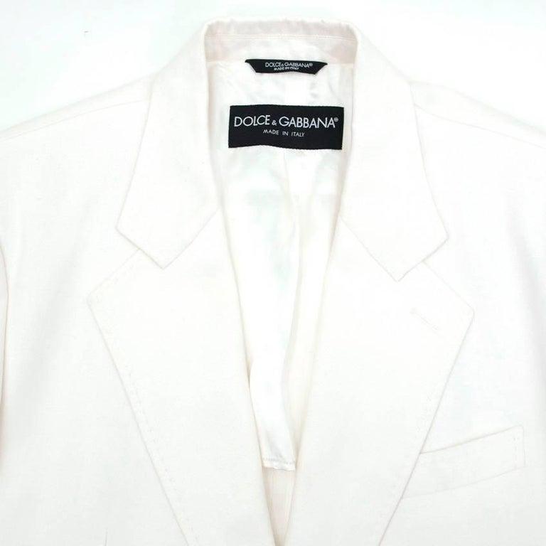 Men's Dolce & Gabbana White Jacket For Sale