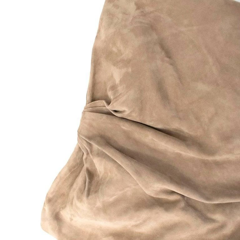 Ralph Lauren Taupe Suede Strapless Dress - Size US 6 For Sale 3